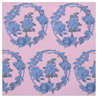 Rosas azules con la guirnalda telas