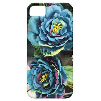 Rosas azules de la col funda para iPhone 5 barely there
