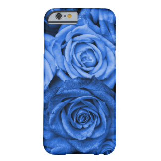 Rosas azules funda barely there iPhone 6