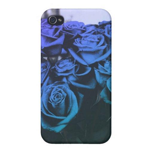 Rosas azules iPhone 4/4S funda