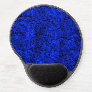 Rosas azules personalizados femeninos alfombrilla de ratón con gel