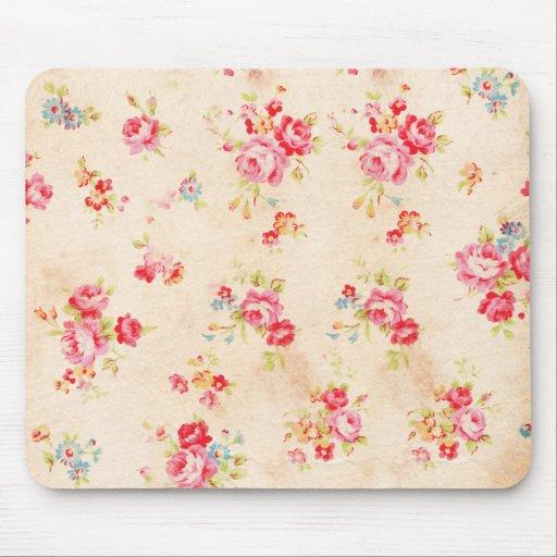 Rosas azules rosados femeninos elegantes lamentabl alfombrilla de raton