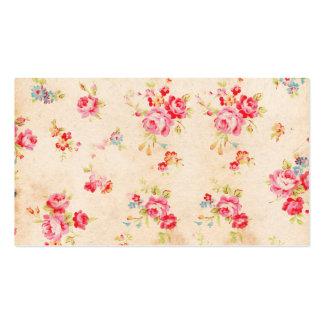 Rosas azules rosados femeninos elegantes lamentabl tarjetas de visita