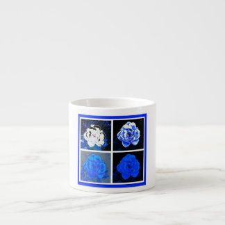 Rosas azules taza espresso