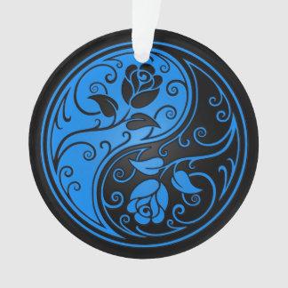 Rosas azules y negros de Yin Yang