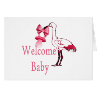 Rosas bebés agradables tarjeta de felicitación