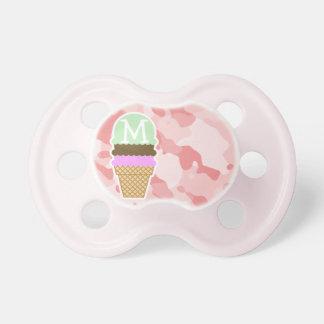 Rosas bebés Camo; Cono de helado Chupetes