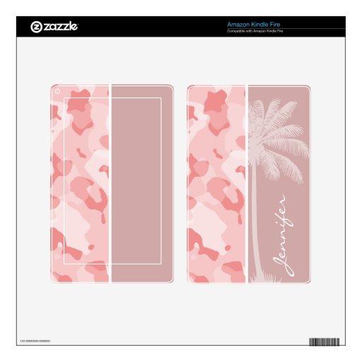 Rosas bebés Camo de la palma del verano; Camuflaje Kindle Fire Pegatina Skin