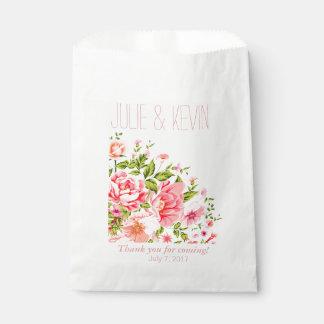 Rosas bebés del ramo el | de la ducha de la flor bolsa de papel