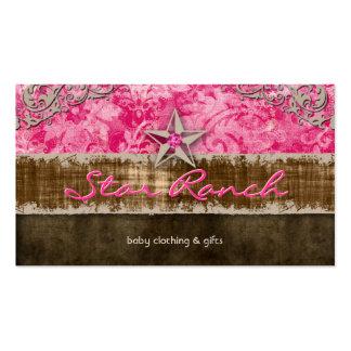 Rosas bebés H de la tarjeta de visita del ante de