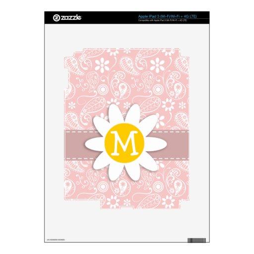 Rosas bebés Paisley; Margarita iPad 3 Skins