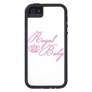 Rosas bebés reales con la corona iPhone 5 Case-Mate protector