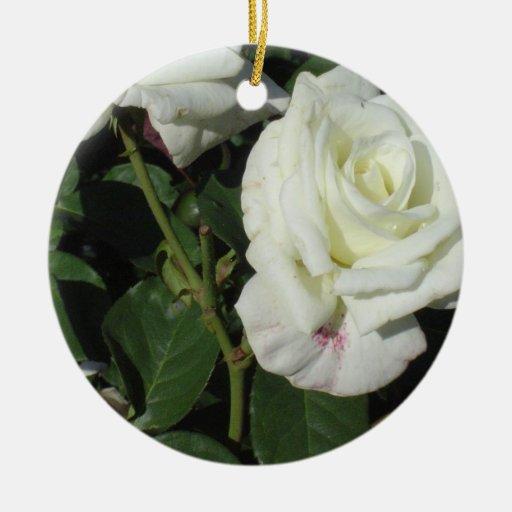 Rosas blancos adornos