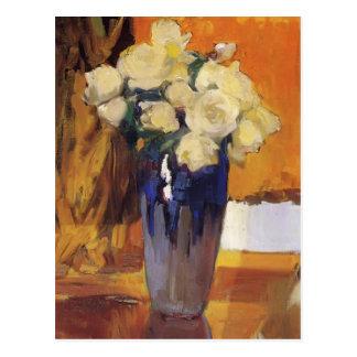 Rosas blancos de Joaquín Sorolla- del jardín de la Postales
