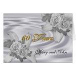 rosas blancos de la 60.a invitación de la fiesta d felicitación