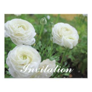Rosas blancos de la pureza invitacion personalizada