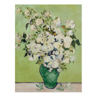 Rosas blancos de Van Gogh Postales