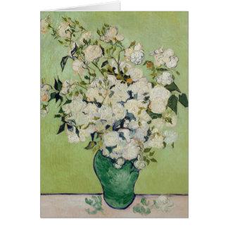 Rosas blancos de Van Gogh Tarjeta De Felicitación