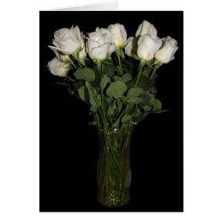 Rosas blancos En blanco-Dentro de la tarjeta