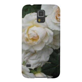 Rosas blancos - fotografía fundas de galaxy s5