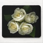 Rosas blancos Mousepad Alfombrillas De Raton