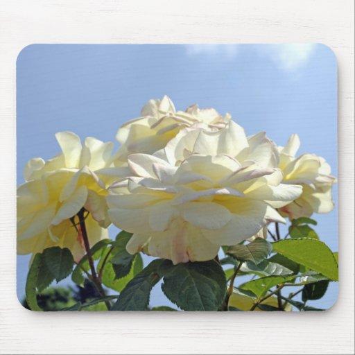 Rosas blancos Mousepad Tapete De Raton