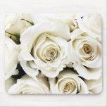 Rosas blancos Mousepad Tapetes De Raton