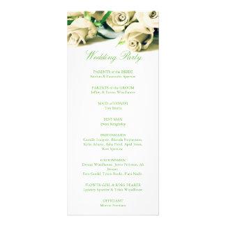 Rosas blancos románticos que casan programa lonas publicitarias