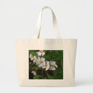 Rosas blancos salvajes bolsa lienzo