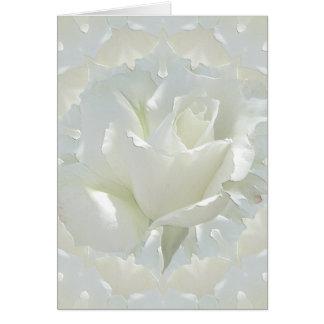 Rosas blancos tarjeta de felicitación