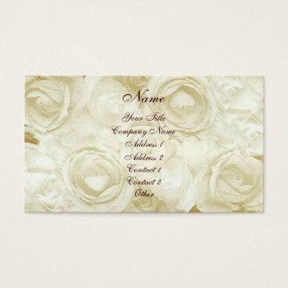 Rosas blancos tarjeta de negocios