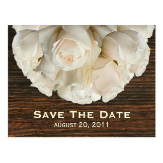 Rosas blancos y reserva de Barnwood la postal de l