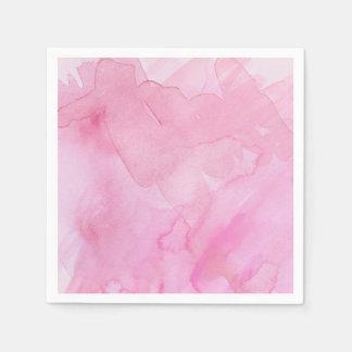 Rosas bonitos de la acuarela - todas las opciones servilletas desechables