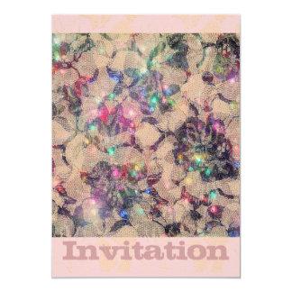 """Rosas bonitos del cordón invitación 5"""" x 7"""""""