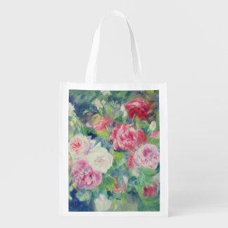Rosas, c.1885 (aceite en lona) bolsas de la compra