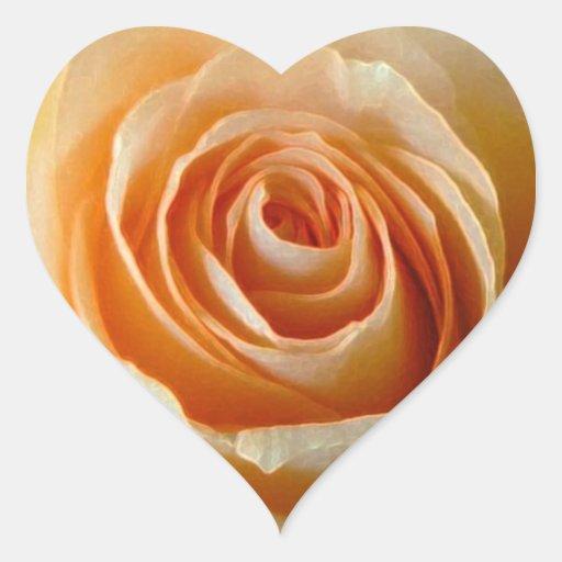 Rosas Calcomania Corazon