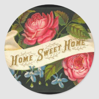 Rosas caseros dulces caseros del Victorian Pegatina Redonda