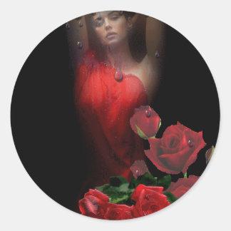 rosas classic round sticker
