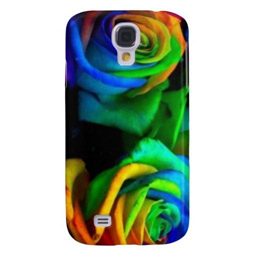 Rosas coloreados - caja de la galaxia S4 de Samsun