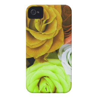 Rosas coloreados Case-Mate iPhone 4 fundas