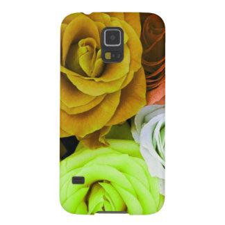 Rosas coloreados carcasas de galaxy s5