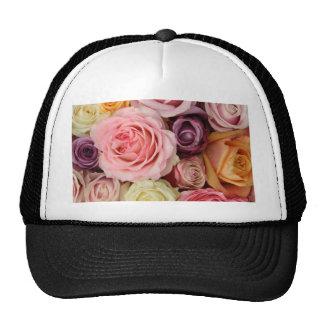 Rosas coloreados polvo por Therosegarden Gorra