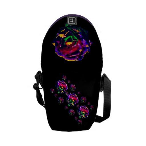 Rosas coloridos bolsa de mensajeria