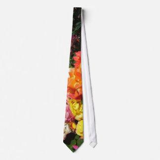 Rosas coloridos corbata personalizada