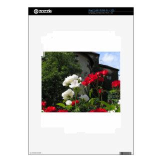 Rosas coloridos en el jardín del castillo skin para el iPad 2