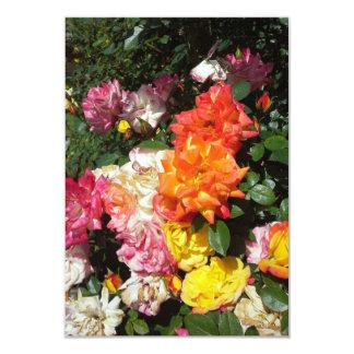"Rosas coloridos invitación 3.5"" x 5"""