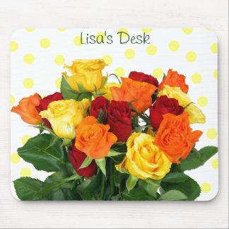 Rosas coloridos Mousepad Alfombrillas De Raton