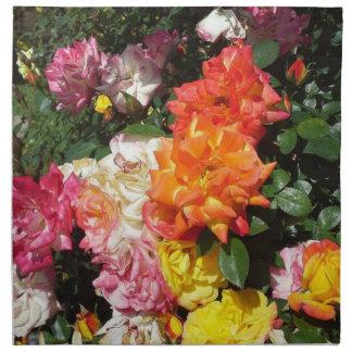 Rosas coloridos servilleta