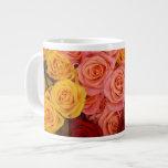 Rosas coloridos tazas jumbo