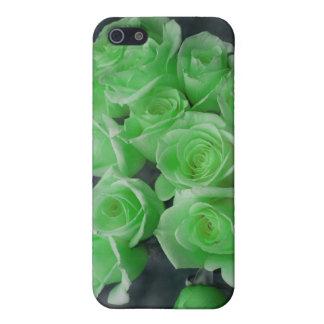 Rosas colorized verde del manojo iPhone 5 carcasa